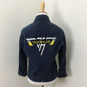 Vintage 70s Van Halen Painted Jean Jacket